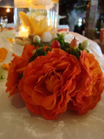 """Комплекс """"Magic Water"""" Търговище> Тема: Пролетни цветя Бяло и оранжево"""